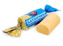 Конфеты Батончик с молоком и ваф. крош.  1кг. Сладонеж
