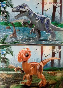 Набор из 2 конструкторов Zuanma Динозавры со звуком 045