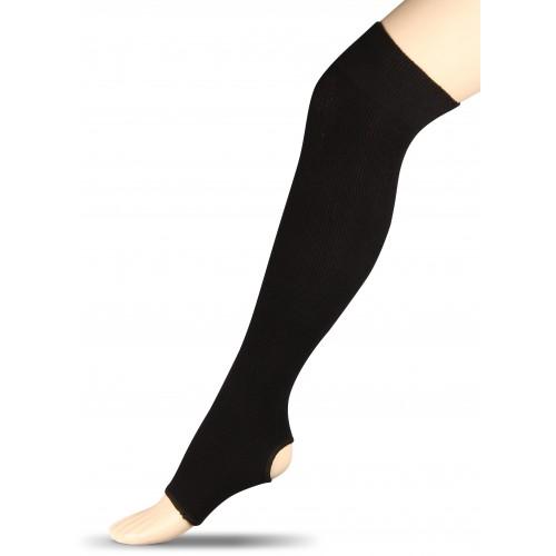 Гетры для гимнастики и танцев (хлопок) INDIGO ЛВ5 черные