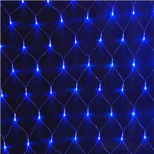 Электрогирлянда «Сетка» 160 LED, Синие