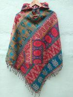 Купить пончо в Санкт-Петербурге, интернет магазин теплой этнической одежды из Индии