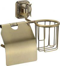 Держатель для туалетной бумаги и освежителя Savol S-L06451.бронза