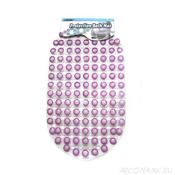 """Противоскользящий массажный коврик для ванной на присосках """"Пузырьки"""", Цвет: Розовый"""