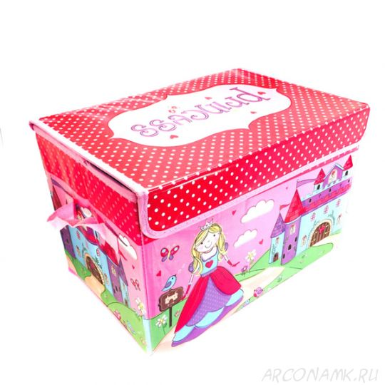Короб для хранения игрушек, 37х25х25 см., Розовый