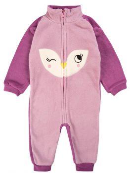Флисовый комбинезон для новорожденных Bonito kids фиолетовый