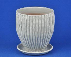 горшок МАНЕ конус 2 бел/сер 3-18 (М4-218)