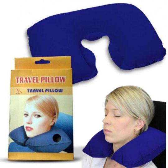 Подушка для путешествий Travel Pillow (Тревел Пиллоу), Цвет: Синий