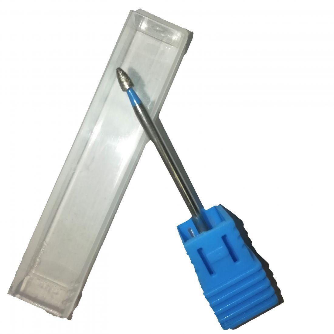 Алмазная фреза пулька синяя (2 мм) Арт. 81