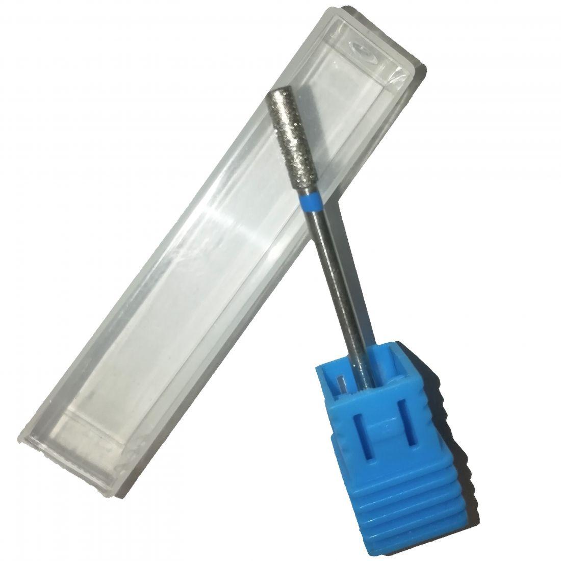 Алмазная фреза цилиндр синяя (2,1 мм) Арт.79