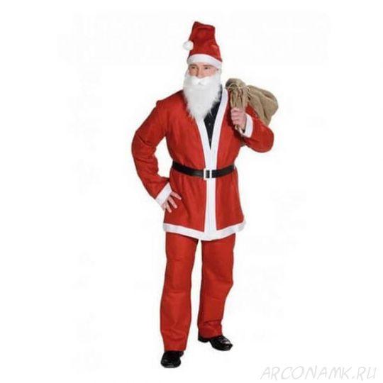 Костюм Санта Клауса с длинной шубой, Размер: 46-50