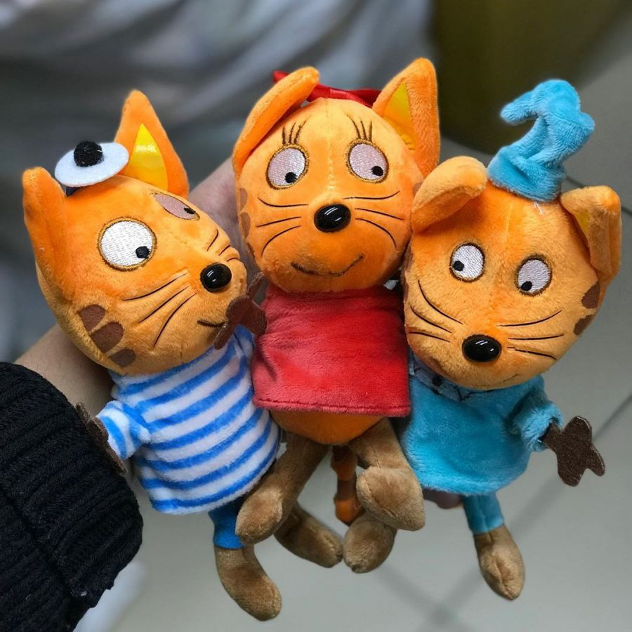 Набор из трех мягких игрушек Три кота