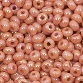 Бисер чешский 07331 непрозрачный темный телесно-оранжевый натуральный Preciosa 1 сорт