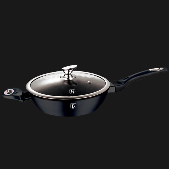 Сковорода сотейник  глубокая кованая с крышкой Berlinger Haus BH-1361 Changing Flameguard Line 24 см