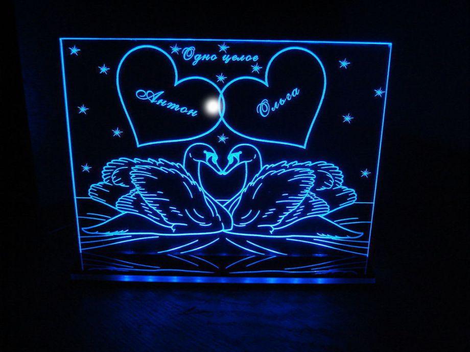 Лазерная гравировка на оргстекле