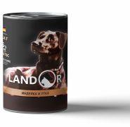 LANDOR Adult Dog Turkey and Duck Консерва для собак с индейкой и уткой, 400г