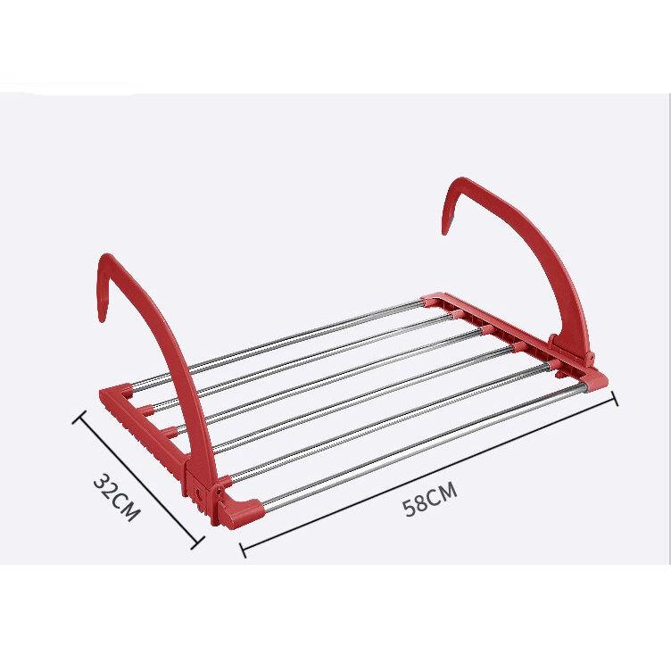 Многофункциональная Навесная Сушилка Для Белья Storage Skeleton Hanger, Цвет Красный