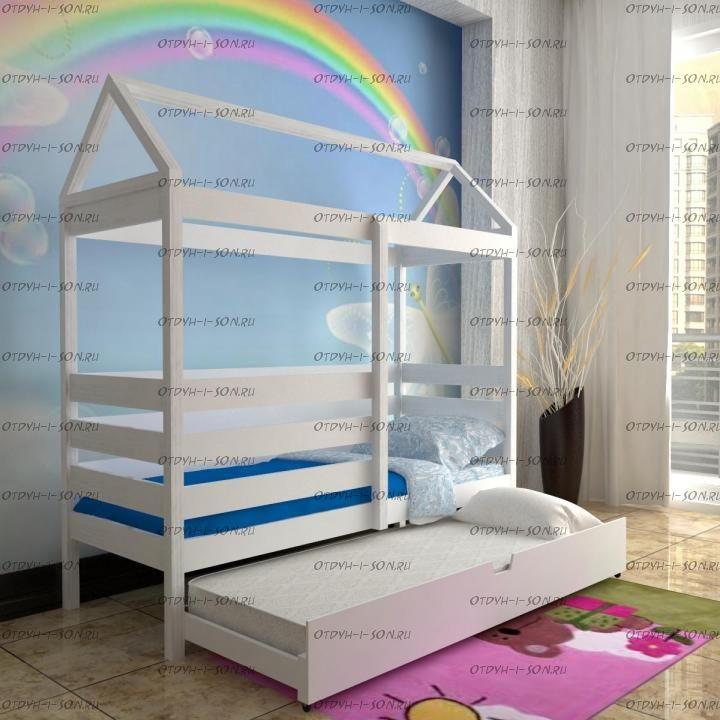 Кровать Домик выкатная Simple №24