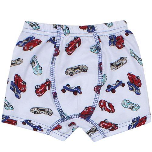 "Трусы-боксеры для мальчика Bonito kids 3-7 лет ""Cars"" белый"