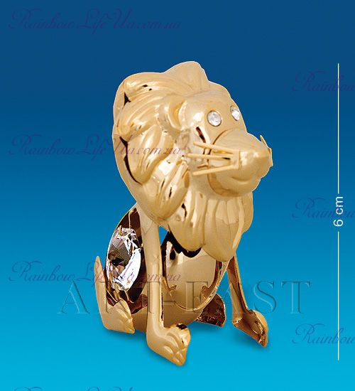 "Статуэтка лев с камнями ""Swarovski"""