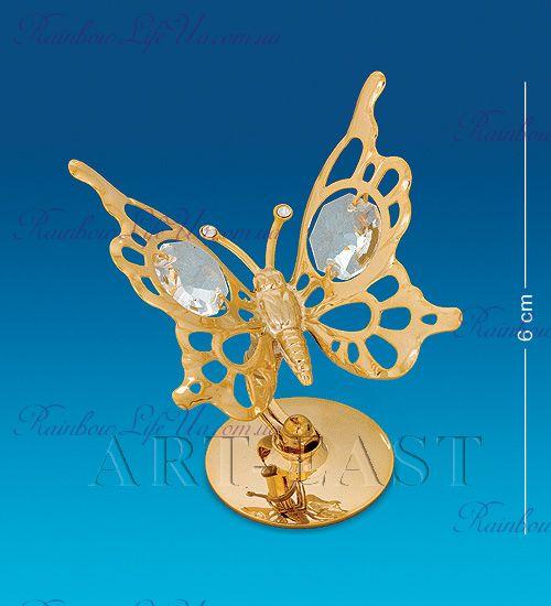 "Фигурка бабочка на подставке с камнями ""Swarovski"""