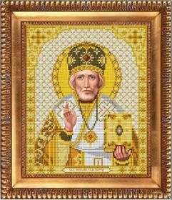 Благовест И-4052 Святой Николай Чудотворец схема для вышивки бисером купить оптом в магазине Золотая Игла