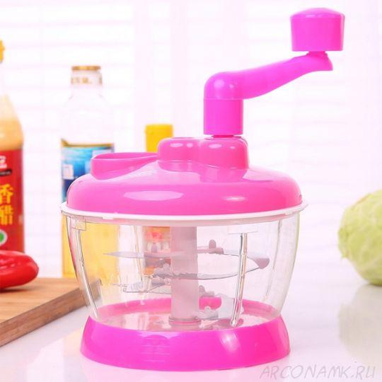 Универсальная механическая овощерезка Multi- functional Food Cooking Machine, Розовый