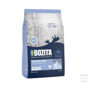 Корм сухой BOZITA NATURALS ORIGINAL MINI для собак мелких пород с курицей 4,75кг