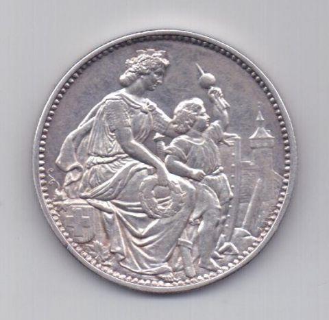 5 франков 1865 года AUNC Шаффхаузен Швейцария