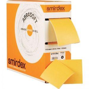 P220 115*125мм*25м SMIRDEX 135 Abrasoft Абразивная бумага на поролоновой основе в рулоне с перфорацией