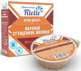 """Крем-десерт """"Вареное сгущенное молоко"""" Fitelle 100 г"""