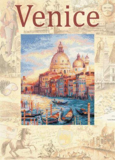 Набор для вышивания крестом Города мира. Венеция РТ 0030 фирма Риолис