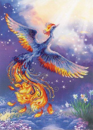 Набор для вышивания крестом Птица счастья РТ 0034 фирма Риолис