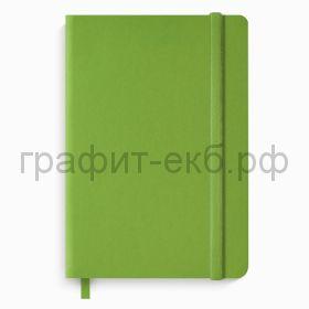 Книжка зап.А5 Феникс+ ТРАВЕРТИН на резинке клетка салатовая 96стр. 49865