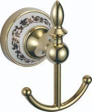 S-06854B SAVOL Durer Крючок двойной керамический, латунный.Золото