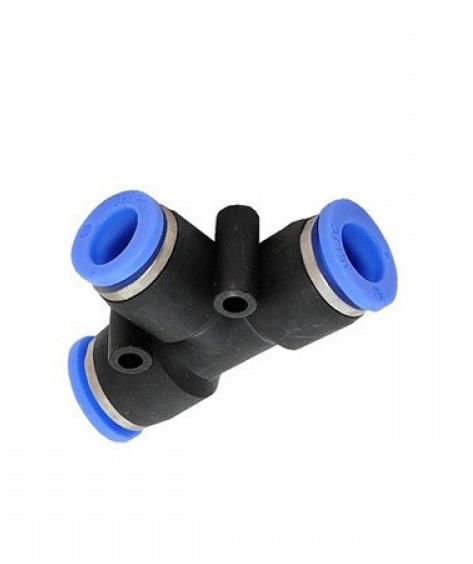 Тройник для пневмошлангов Т-образный, под шланг 10х6 мм
