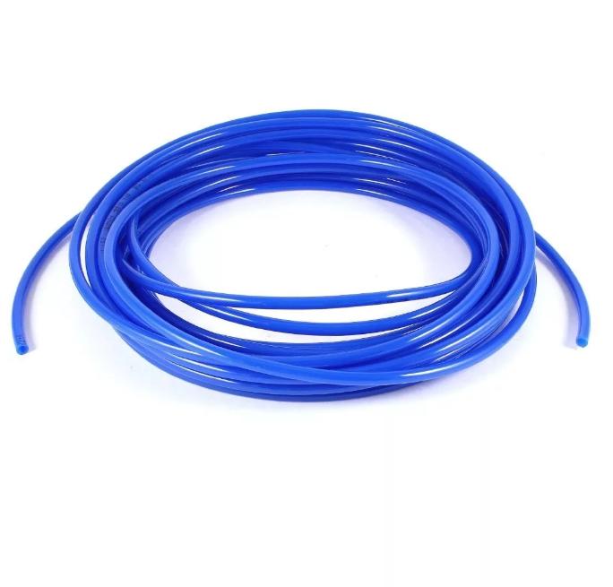Шланг ПВХ, повышенной жесткости, 10*6 мм, бухта 50 метров, синий