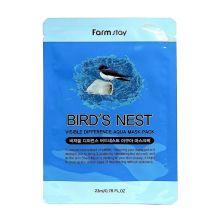 Visible Difference Bird's Nest Aqua Mask Pack Тканевая маска для лица с экстрактом ласточкиного гнезда, 23мл