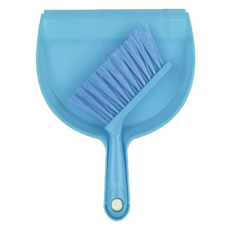 Мини совок с щёткой Dustpan Brush, Цвет Голубой