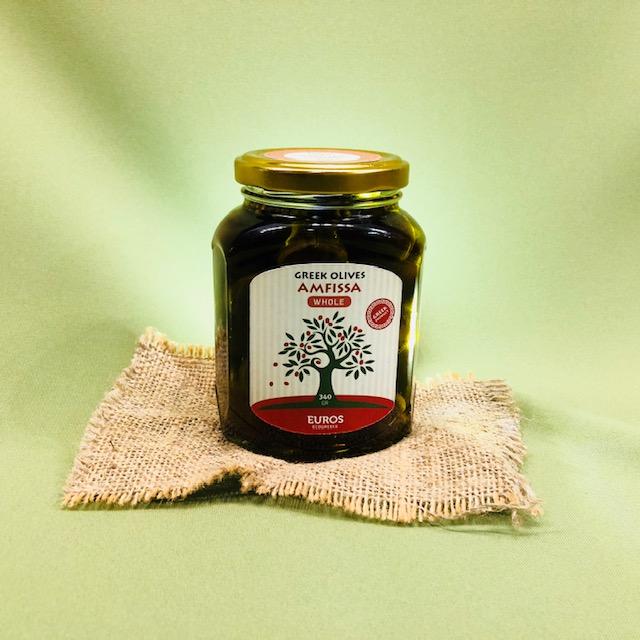 Оливки АМФИССА в оливковом масле Extra Virgin