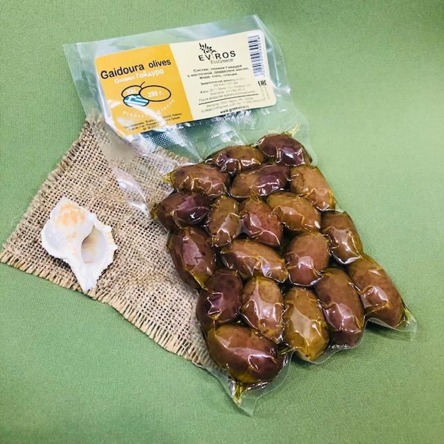 ГАЙДУРА  оливки в вакуумной упаковке 250 гр