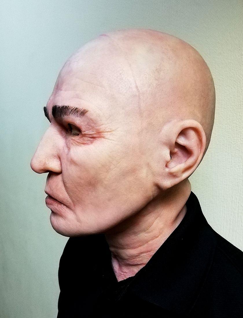 Реалистичная маска из латекса Азиат