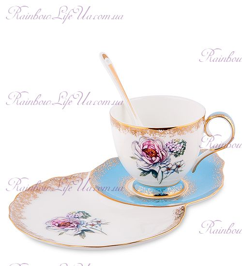 Чайная пара Цветок Неаполя ''Fiore Napoli Pavone''