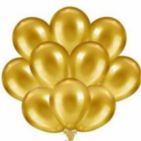 """Воздушные шары """"Золотые"""" 30 штук"""