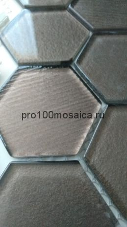Omega Brown. Мозаика СОТЫ 51*59 мм,  размер, мм: 295*300*4 (ORRO Mosaic)