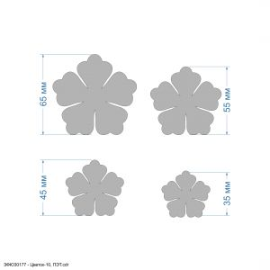 `Набор шаблонов ''Цветок-10, набор - 4 шаблона'' , ПЭТ 0,7 мм