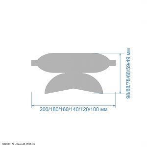 `Шаблон ''Бант-46'' , ПЭТ 0,7 мм