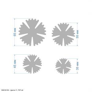 `Набор шаблонов ''Цветок-11, набор - 4 шаблона'' , ПЭТ 0,7 мм