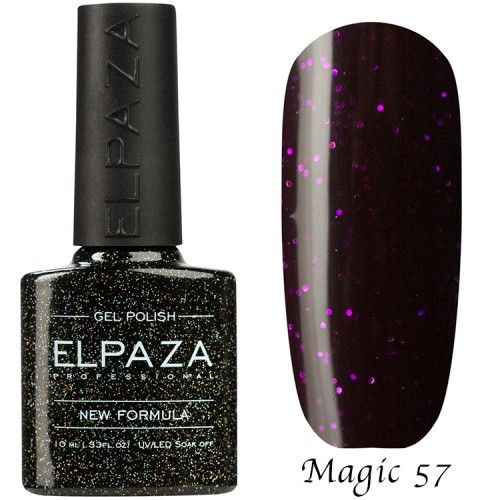 Гель лак ELPAZA MAGIC GLITTER 10 мл ТАЙНА 57