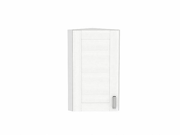 Шкаф верхний торцевой Лофт ВТ224Н (Snow Veralinga)