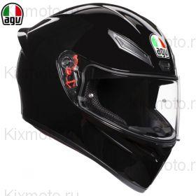 Шлем AGV K-1, Чёрный глянец